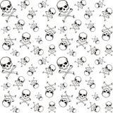 картина косточек перекрестная Стоковое Изображение