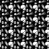 Картина косточки опасности безшовная Стоковые Фотографии RF