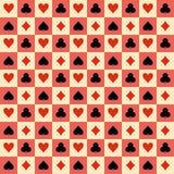 Картина костюмов играя карточек безшовная. Вектор Стоковые Фотографии RF
