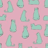 Картина кота нарисованная рукой бесплатная иллюстрация