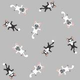 Картина котенка серая безшовная Стоковые Фото