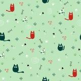 Картина котов безшовная Стоковые Фотографии RF