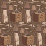 картина кофе безшовная Стоковое Изображение