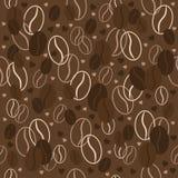 картина кофе фасолей безшовная также вектор иллюстрации притяжки corel Справочная информация Стоковые Фото