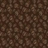 картина кофе фасолей безшовная также вектор иллюстрации притяжки corel Справочная информация Стоковые Изображения