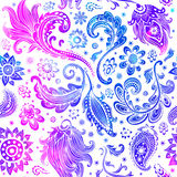 Картина красивой акварели флористическая безшовная Стоковая Фотография