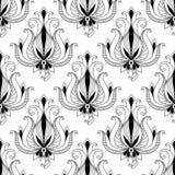 Картина красивой флористической арабескы безшовная иллюстрация вектора