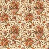 Картина красивых простых цветков безшовная Стоковое Изображение RF