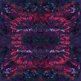 Картина краски связи безшовная Нарисованная рукой печать shibori Стоковая Фотография