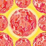 Картина красного шарика безшовная Стоковые Изображения
