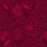 Картина красной абстрактной милой предпосылки безшовная Стоковое Изображение RF