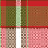 Картина красной абстрактной несимметричной шотландки проверки безшовная иллюстрация вектора