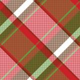 Картина красной абстрактной несимметричной шотландки проверки безшовная иллюстрация штока