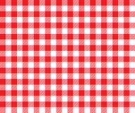 Картина красной предпосылки ткани таблицы безшовная Стоковая Фотография RF