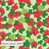 Картина красной смородины безшовная Иллюстрация вектора