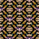 Картина красочного вектора штофа безшовная барочные орнаменты антропологического иллюстрация вектора