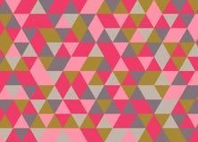 Картина красочного геометрического треугольника безшовная Абстрактный вектор Стоковая Фотография