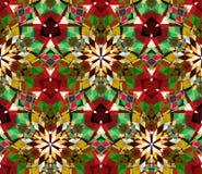 Картина красочного калейдоскопа безшовная Безшовная картина составленная элементов конспекта цвета устроенных на белой предпосылк Стоковое Фото