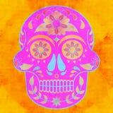 Картина красочного черепа безшовная иллюстрация вектора