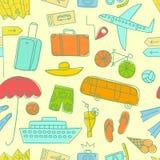 Картина красочного doodle летних каникулов безшовная Стоковые Изображения