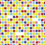 Картина красочной мозаики безшовная Плитка Стоковые Изображения