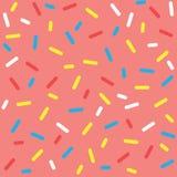 Картина красочной поливы донута безшовная Стоковая Фотография RF