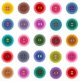 Картина красочных кнопок безшовная бесплатная иллюстрация