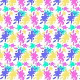 Картина красочных помарок на прозрачной предпосылке иллюстрация вектора