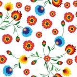 Картина красочных цветков безшовная Стоковые Фото