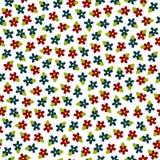 картина красочных цветков вектора безшовная Стоковая Фотография RF