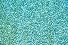 Картина кристально ясного влияния текстуры речной воды Soca зеленая и голубая покрашенная воды стоковые изображения rf