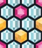 Картина кристаллического вектора полигонов безшовная Стоковое Изображение RF
