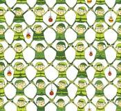 Картина Кристмас эльфа в зеленой версии Стоковые Фотографии RF