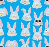 Картина кролика головная Предпосылка зайцев Животное стороны орнамента восточно бесплатная иллюстрация