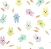 Картина кроликов вектора безшовная Стоковые Изображения