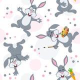 Картина кроликов зайчика пасхи безшовная Стоковые Фотографии RF