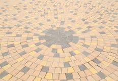 Картина круга каменный вымощать Стоковое Фото