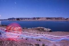 Картина круга светлая - озеро Пауэлл Стоковые Изображения