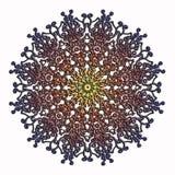 Картина круга элегантного и нежного шнурка multicolor стоковое изображение rf