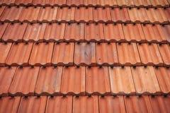 Картина крыши красной плитки Стоковое Изображение