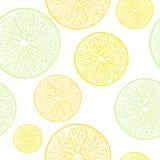 Картина кусков известки, лимона и апельсина безшовная Стоковая Фотография RF
