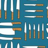 Картина кухонных ножей бесплатная иллюстрация