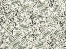 Картина 100 куч долларовых банкнот Стоковая Фотография