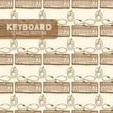 Картина клавиатуры безшовная Стоковые Изображения
