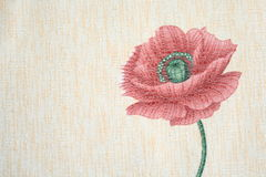 Картина классической богато украшенный флористической ткани Стоковая Фотография