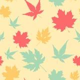 Картина кленового листа безшовная Стоковое Изображение RF