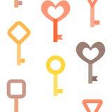 Картина ключей безшовная Стоковые Фото