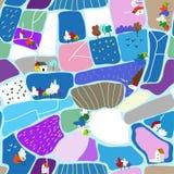 Картина ландшафта зимы безшовная, взгляд сверху, графическая иллюстрация бесплатная иллюстрация
