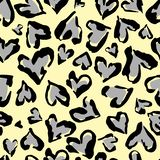 Картина леопарда Безшовная печать вектора Абстрактная повторяя картина - имитацию кожи леопарда сердца можно покрасить на одеждах иллюстрация штока
