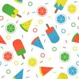 Картина лета цитруса Popsicle арбуза стоковые изображения